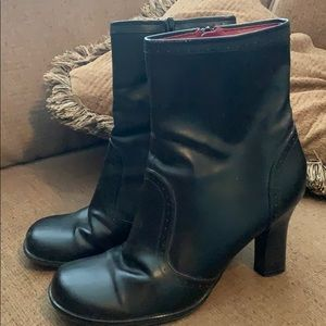 Lower East side black heel boots size 91/2 woman's
